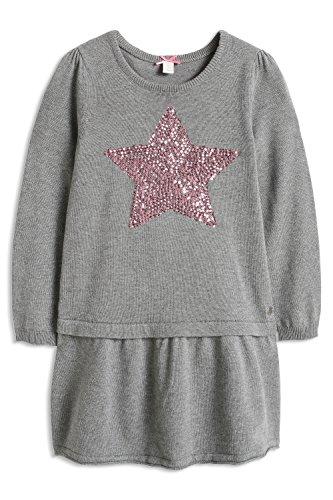 ESPRIT Mädchen Kleid 085EE7E003, Gr. 104 (Herstellergröße: 104/110), Grau (MEDIUM GREY 035)