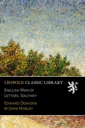 English Men of Letters. Southey por Edward Dowden