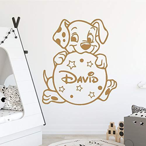 caowenhao Abnehmbarer Hund Wohnkultur Wohnzimmer Kinderzimmer Kunst Aufkleber braun XL 57 cm X 65 cm -