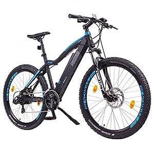 NCM Moscow 27,5 Zoll Elektrofahrrad Mountainbike,E-MTB E-Bike,Pedelec, 36V 250W Bafang Motor, 36V 13Ah 468Wh designer Rahmen Akku,matt schwarz,hell blau