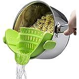مصفاة مطبخ Gizmo Snap 'N Strain مصفاة سيليكون قابلة للمشابك، تناسب جميع الأواني والأوعية - أخضر ليموني