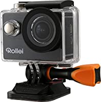 Rollei Actioncam 425 - with 4K Video Resolution, 170° Super Wide Angle Lens, Integrated and Underwater Case - Black