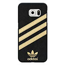 Sports Brand Adidas Originals Molded Cover funda,Adidas Black/Gold Back Shell for Samsung Galaxy S6 Edge