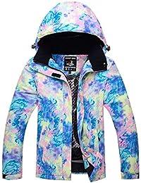 FELICIG Veste de Ski pour Femme Coupe-Vent en Plein air, Chaud (Color : C03, Size : L)