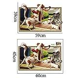 JUNMAONO Cartoon Dog Wandaufkleber/Abnehmbare Wandbild Aufkleber/Wandgemälde/Wand Poster/Wandbild Aufkleber/Wandbilder/Wandtattoo/Pinupbild/Beschriftung/Pad einfügen/Tapete/Tapezieren/Tapeten/Wand Zeitung/Wandmalerei Haftnotiz/Fühlen Sie sich frei zu kleben/Instant Aufkleber/3D-Stereo-Wandaufkleber