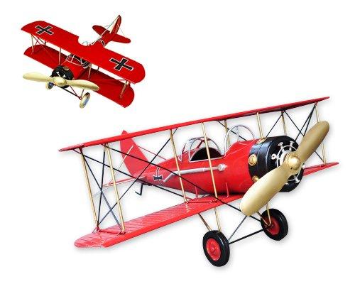 vintage-boeing-stearman-comme-skyway-toy-avion-aircraft-avion-modele-rouge