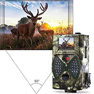 """distianert Trail Camera, 1080P 12MP Hunting Camera with Infrared Night Vision, 36pcs 940nm IR LEDs, 2.0"""" LCD Display, IP65 Waterproof for Wildlife Monitoring & Home Security"""