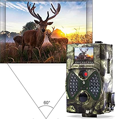 "distianert Trail Camera, 1080P 12MP Hunting Camera with Infrared Night Vision, 36pcs 940nm IR LEDs, 2.0"" LCD Display, IP65 Waterproof for Wildlife Monitoring & Home Security"