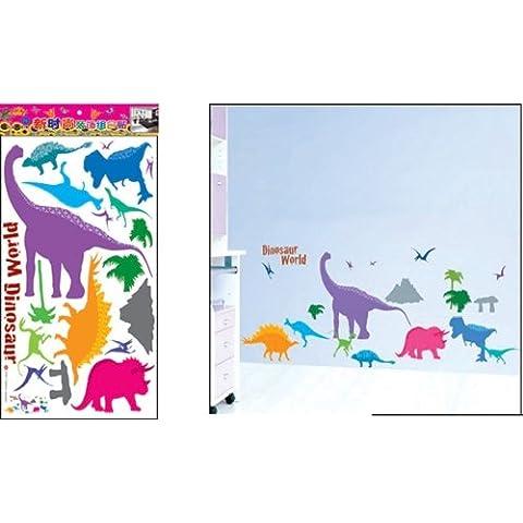 Adesivi murali dinosauro bambini, ragazzo & piccola principessa, adesivi murali camera da letto arredamento camera da letto dino wall stickers