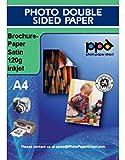 PPD DIN A4 Inkjet Broschürenpapier beidseitig seidenglänzend beschichtet (Satin) 120g, DIN A4 x 50 Blatt PPD064-50