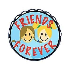 Forever GiftJewelryShop stile antico per Pin tondo dell'amicizia con spilla