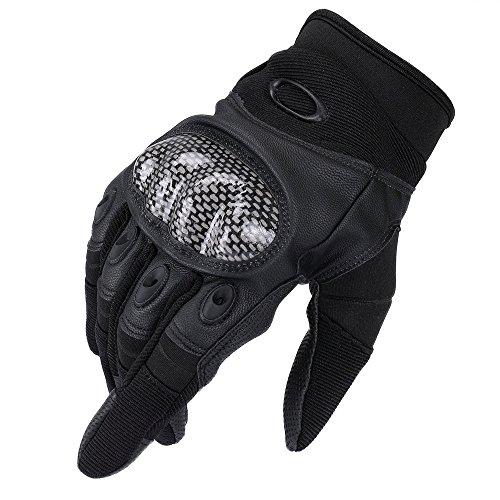 Full Finger Handschuhe, trofong Herren Touch Fäustlinge für Radfahren Motorrad Klettern Wandern Outdoor Sports Handschuhe Smart XL Schwarz