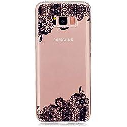 Samsung Galaxy S8 Plus Funda,MUTOUREN 3D Patrón Protectiva Carcasa de Silicona Gel TPU estrecha Case Cover Para Samsung Galaxy S8 Plus (Encaje De Flores/Lace Flower )