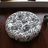 Runde Tatami Seat dämpfung, Kinder Erwachsenen Essen Stuhl-pad Home Outdoor Mit Krawatten Anti-rutsch Waschbar Sitzpolster-E Durchmesser 43cm