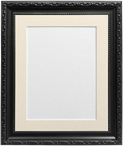 Frames By Post Bilderrahmen mit elfenbeinfarbenem Passepartout für 10x 20,3cm Bild Größe, schwarz, 30mm breit, A5