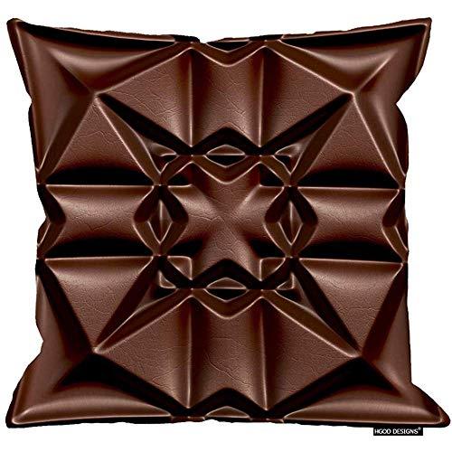 2Pcs 18X18inch-Schokolade Kissenbezug, abstrakte Tileable Dekorative 3D Design Baumwolle Leinen Polyester Dekorative Wohnkultur Sofa Couch Schreibtisch Stuhl Schlafzimmer 18X18inch -