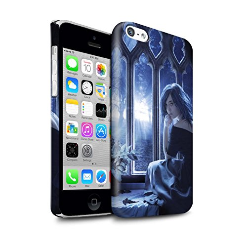 Officiel Elena Dudina Coque / Clipser Brillant Etui pour Apple iPhone 5C / Luz Sombra Design / Art Amour Collection Feuilles séchées