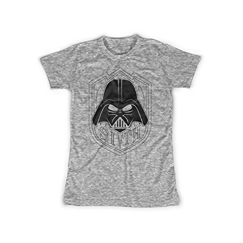 ufdruck in Grau Gr. M Sith Lord Wappen Design Girl Top Mädchen Shirt Damen Basic 100% Baumwolle Kurzarm (Sith-lord-outfit)