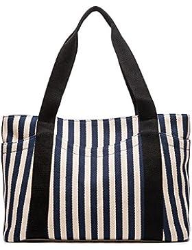 AuBer Henkeltasche Damen Umhängetasche Handtasche Hobos Bag Shopper Strandtasche Frauen Schultertasche Einkaufstasche...