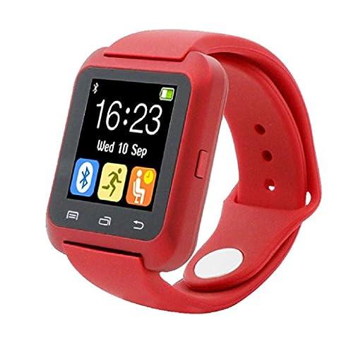 Loveso-Smart-Uhren Smartwatch Bluetooth Smart-Armbanduhr Pedometer gesund für iPhone LG Samsung Handy_Schwarz