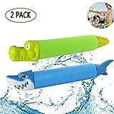 Aolvo 2 Pack Wasserpistole, Super Soaker Wasser Wasserspritzpistole, Wasserpistole für Kinder 2 Stücke Shark Crocodile Water Blaster Squirterguns für Kinder Sommer Pool Spielzeug Strand für Kinder
