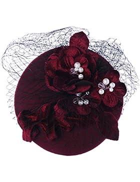 Zhuhaitf High Quality Hermosos accesorios para el cabello Retro Bride Headdress Hair Accessories Red Velvet Wine...