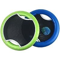 VORCOOL Juego de Pelota al Aire Libre Trampoline Paddle Ball para niños Adultos 2 Jugadores, 1 Bolas Incluidas