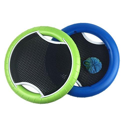 VORCOOL MEZO Disc Set Bounce Spiel mit Rubberband Bouncy Ball für Kinder Erwachsene (2Schläger und 1Ball) -