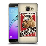 Head Case Designs Offizielle Lantern Press Pitbull Konstruktion Hund Kollektion Ruckseite Hülle für Samsung Galaxy A3 (2016)