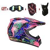 Motocross Helm Mx Motorrad Offroad Roller ATV Helm D.o.t AM Mountainbike Integralhelm Mit...