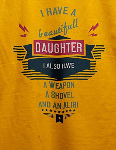 I Have A Beautifull Daughter New T-Shirt Gelb
