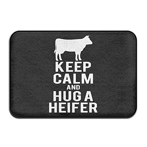 Miedhki Keep Calm and Hug A Heifer Non-Slip Outside/Inside
