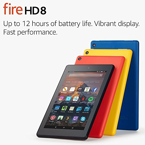 "Fire HD 8 Tablet with Alexa, 8"" HD Display, 32 GB, Punch Red — with Special Offers"