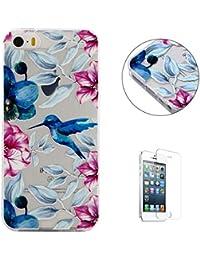 Funda iPhone 5/5S/SE TPU Silicona Carcasa(con Gratis Pantalla Protector)
