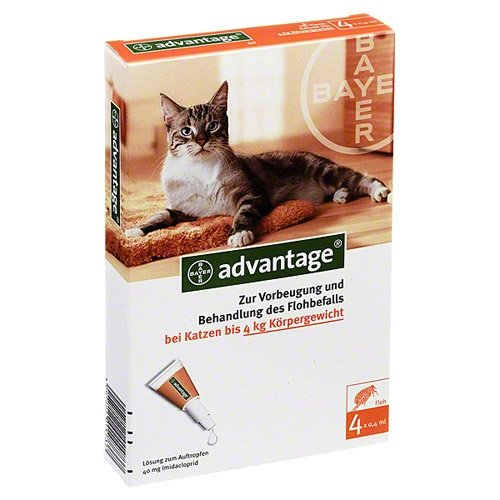 Advantage 40 Fuer Katzen Lösung 4St