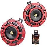 Hupen Electric 12 V 135 dB super last High Sound und Low Tone Metall Twin Horn Kit it Halterung für Cars LKWs SUV Vans Motorräder Off Road Boote