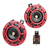 Hupen Electric 12 V 135 dB super last High Sound und Low Tone Metall Twin Horn Kit it Halterung für Cars LKWs SUV Vans Motorräder Off Road Boo