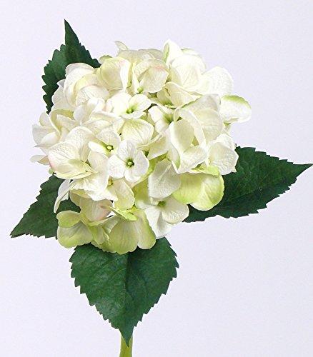 artplants Künstliche XXL-Hortensie, Creme-grün, 50 cm, Ø 15 cm - Kunstblume/Seidenblume (Hortensien Creme Seidenblumen)