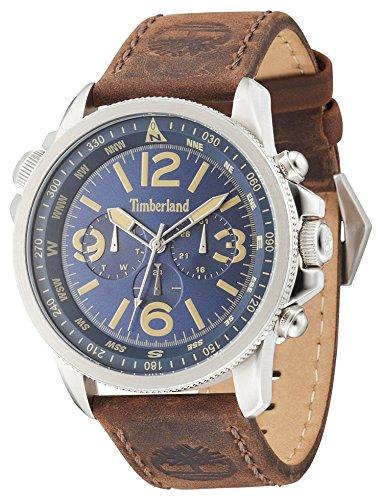 TIMBERLAND Herren Analog Quarz Uhr mit Leder Armband TBL.13910JS/04