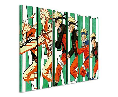 Lienzo 3piezas Naruto _ Evolution _ 3x 90x 40cm (total 120x 90cm) _ Acabado impresión artística Schöner auténtica Lienzo como Cuadro En Bastidor