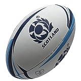 Ecosse - Ballon de Rugby des Supporters Blanc/Bleu - taille 5