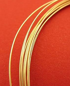 New 5ft1525mm 28 Gauge 14k Gold Filled Super Lightweight Round Wire 1