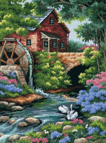 (D02484) - Dimensions Needlepoint Kit - Old Mill Cottage -