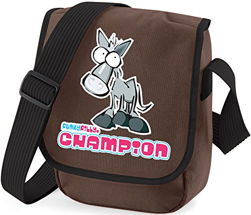 Funky Filly Ragazza Pony Champion Piccola Borsa a Tracolla Marrone Dimensioni 23x17x7 cm Marrone