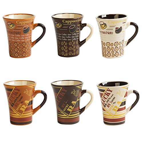 TABLE PASSION - COFFRET 6 TASSES 10CL COLLECTOR BEIGE