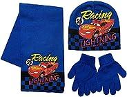 Disney Cars Lightning McQueen - Juego de bufanda y guantes de acrílico para invierno