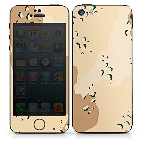 Apple iPhone 5 Case Skin Sticker aus Vinyl-Folie Aufkleber Camouflage Sand Army DesignSkins® glänzend