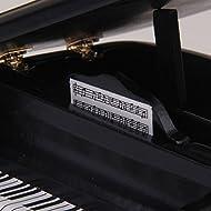 Tfxwerws novità 1: 12casa delle bambole in miniatura in legno pianoforte e sgabello (nero)