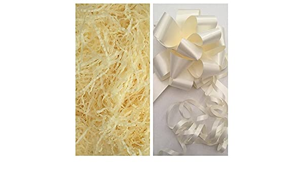 Lilac shredded tissue paper /& Lilac Pull bow 31mm Astic Group Instruction sheet 40gms