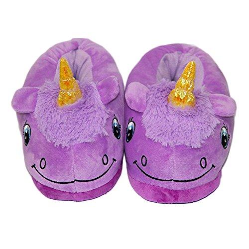 Auspicious beginning Unicorn Plüsch Hausschuhe warm Haushalt Loafers für Männer und (Nerd Kitty Hello)